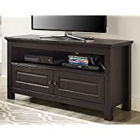 Walker Edison 44 inches Cortez TV Stand Console, Espresso