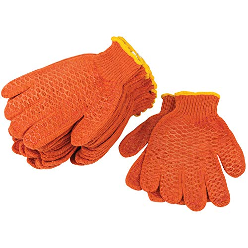 20 Paia Draper Antiscivolo Gripper Gloves SZ XL Garden Builder Construction Arancione 82750