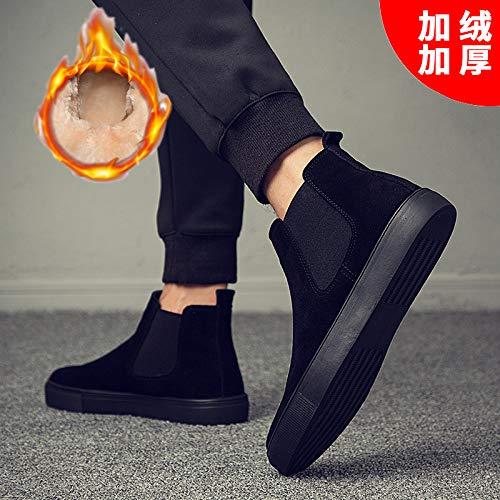 Shukun Herren Stiefel Martin Stiefel Herren Stiefel Chelsea Stiefel Herrenschuhe Winter Baumwolle Schuhe Herren Hohe Schuhe Schuhe Männer zu helfen