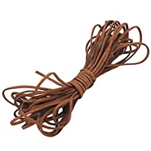 ReFaxi®1 Roll Durable Brown Suede Leather Cord String 2mm for Bracelet Necklace DIY