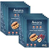 Amara Baby Food, Sweet Potato Raspberry, Healthy Baby & Infant Food, Organic Fruits and Veggies for Baby's First Meals - Stage 2 (10 Pouches)