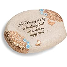 Light Your Way Pavilion Gift Company 19142 in Memory Memorial Stone, 6 X 2-1/2-Inch