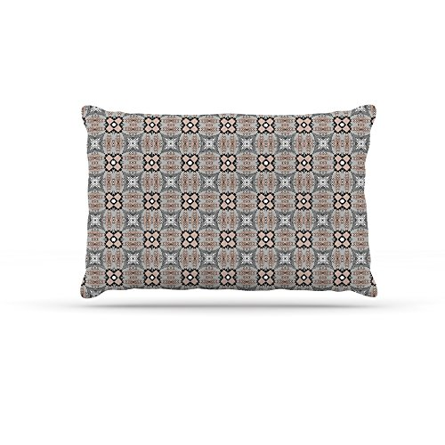 30 by 40\ Kess InHouse Vasare Nar African Nomad  Brown Pattern Fleece Dog Bed, 30 by 40