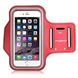 "MoKo Armband for iPhone 6s Plus / 6 Plus, Sweatproof Sports Armband Running Arm Band for iPhone 6S Plus, 6 Plus, Samsung S8 Plus, S7 Edge, Note 4 / 5, J7, Red (Fits Arm Girth 10.8""-16.5"")"