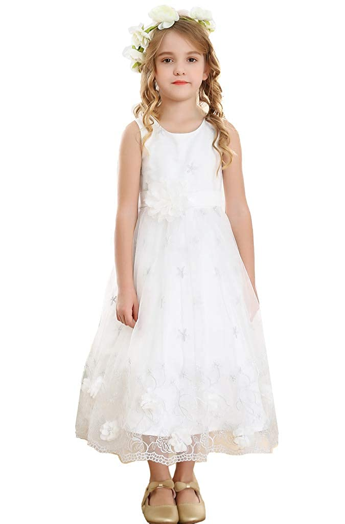 Ivory argent Embroidery coutume Bowdream - Robe - Fille
