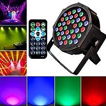 KOOT Stage Up Lighting DJ Wash Light with RGB 36 LEDs Par Light DMX Control and Remote Control for Karaoke Club Disco Bar Wedding Show