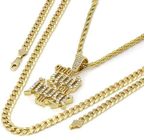 6fc98ed90cc L & L Nation 14k Gold Plated Cz Only God Can Judge Me Hip Hop Pendant