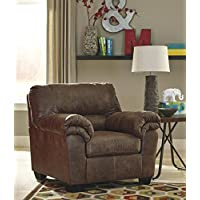 Bladen Contemporary Coffee Color Faux Leather Chair