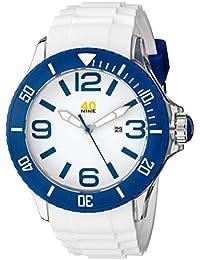 Men's 40NINE01/BLUE3 Extra Large White Watch