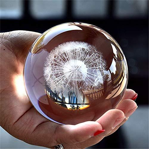 TYGJB 3D Bola de Cristal Estatuilla Feng Shui Regalo Oficina Decorativo Tormenta Bola de Cristal Bolas Adornos Estatua Artesanias