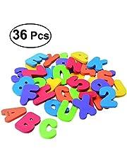 NUOLUX Bath Letters and Numbers set Bath Tub Foam Alphabet Kids Bath Toys for Kids Children 36PCS