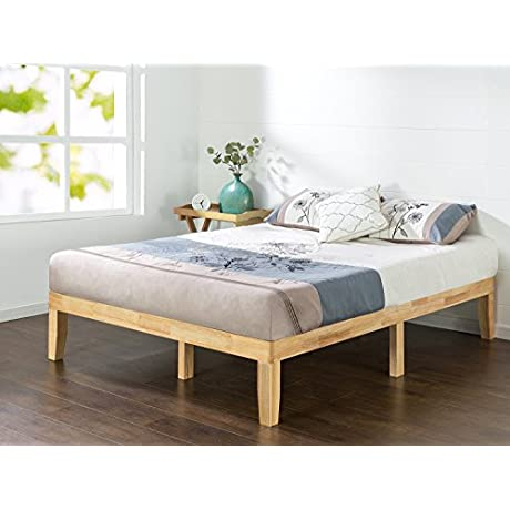 Zinus 14 Inch Wood Platform Bed No Boxspring Needed Wood Slat Support Natural Finish Twin