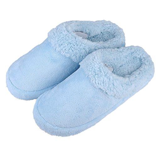 UName Couple Men/Women Warm Winter Slippers , Men/Women Couple Soft Coral Velvet Home Slippers, Non-slip Indoor Shoes, Azure, Pink... B017D1XVBI Shoes d0a476