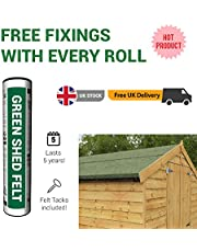 BillyOh Green Mineral Shed Roofing Felt 5m x 1m roll