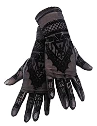 HENNA GLOVES - Gothic Mesh Gloves with Mehndi Patterning