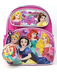 "Small Backpack - Disney Princess -Cinderella Belle Aurora Rapunzel 12"" 121471-2"