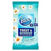 Bloo Flowers Toilet & Bathroom Anti Bacterial Wipes Fresh Daisy (36) - Pack of 6