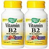 Nature's Way Vitamin B2, 100 mg Riboflavin, 100 Capsules (2 Pack)