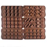 Bekith Silicone Gel Non-stick Chocolate, Jelly and Candy Mold, Cake Baking Mold (Set of 4) by Bekith