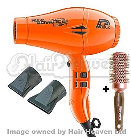 Parlux Advance Secador de pelo iónico y cerámico, color morado con cepillo gratis
