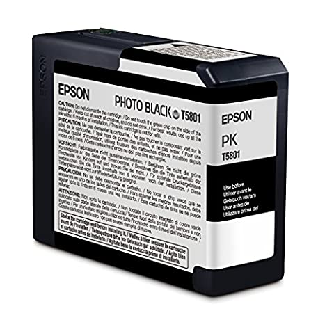 Epson T5801 UltraChrome K3 Photo Black Cartridge Ink (Epson T5801)