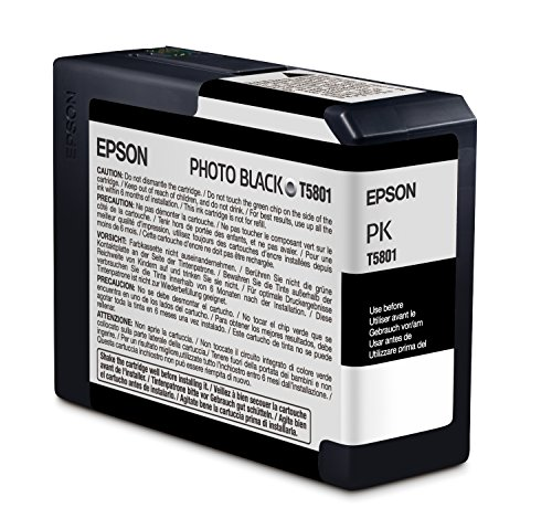 Epson T5801 UltraChrome K3 Photo Black Cartridge Ink