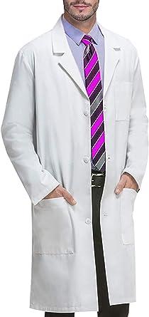 Memoryee Bata de Laboratorio Profesional Hombres Blusa Blanca ...