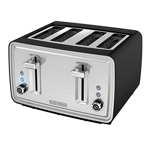 BLACK+DECKER TR4900SBD Electric Toaster, Black