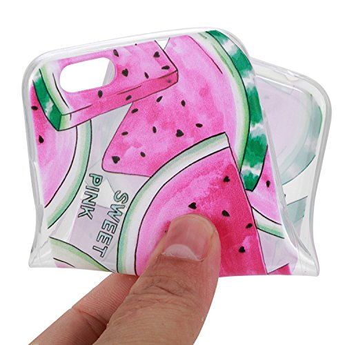 Für Apple iPhone 6 / iPhone 6S (4.7 Zoll) Hülle ZeWoo® TPU Schutzhülle Silikon Tasche Case Cover - HX010 / Wassermelone