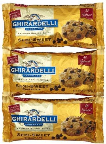Ghirardelli Semi-Sweet Chocolate Chips - 12 oz - 3 pk