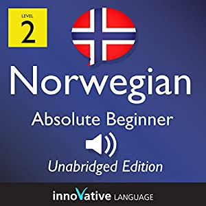 Learn Norwegian: Level 2 Absolute Beginner Norwegian, Volume 1: Lessons 1-25 Audiobook