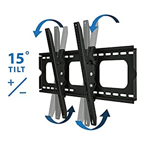 Mount-It! MI-303B TV Wall Mount Bracket for 32 - 65 inch LCD, LED, or Plasma Flat Screen TV, Heavy Duty Load Capacity 175 lbs, 15 Degree Tilt Mechanism Up or Down, Max VESA 600x400 with 6 ft HDMI cable