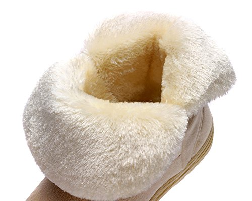 Warm Girl's Classic Snowboots JDS Shorts Women's Fortuning's boots Moccasin Beige Bowknot UfInwx0BEq