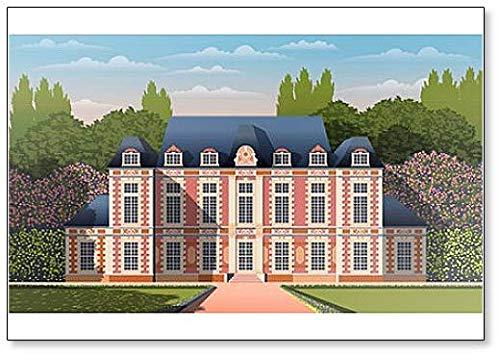 Imán para nevera, diseño de mansión antigua romántica con jardín ...