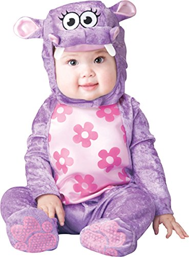 Lil Characters Toddler Printed Jumpsuit Hippo Costumes