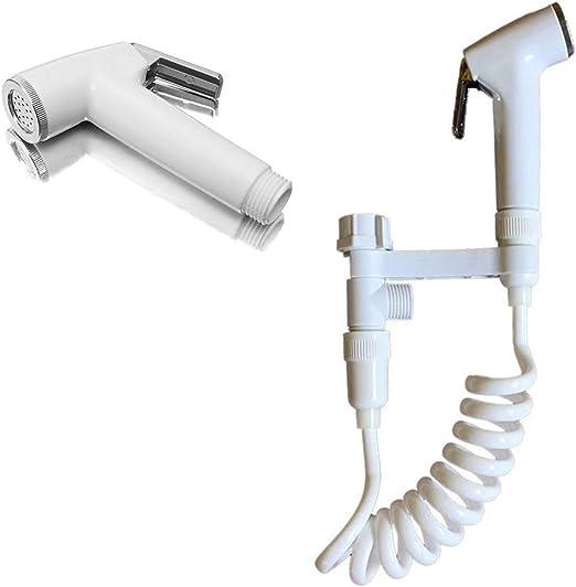 TOPBATHY Pulv/érisateur Bidet de WC Toilette Douchette en Acier inoxydable Main Chance Bidet Spray Shattaf Prime de Pulv/érisation avec Tube Base pour Femme