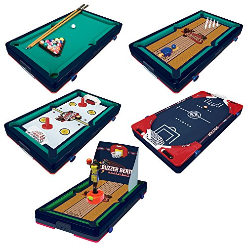 (Franklin Sports 5 in 1 Sports Center Table Top, 18.5 x 10.5 x 3-Inch,)