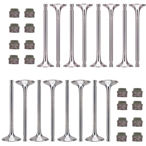 (Performance Intake Valves Exhaust Valves Valve Stem Seals Kit Fit For Audi A3 A4 Quattro A5 A6 Q5 Q7 R5 S5 A8 Volkswagen VW Jetta Passat Tiguan GTI Eos CC )