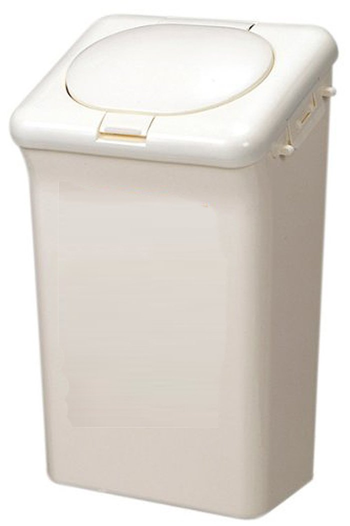 Made in Japan Diaper Pail with Odor Lock Technology , Capacity : 473 floz , White