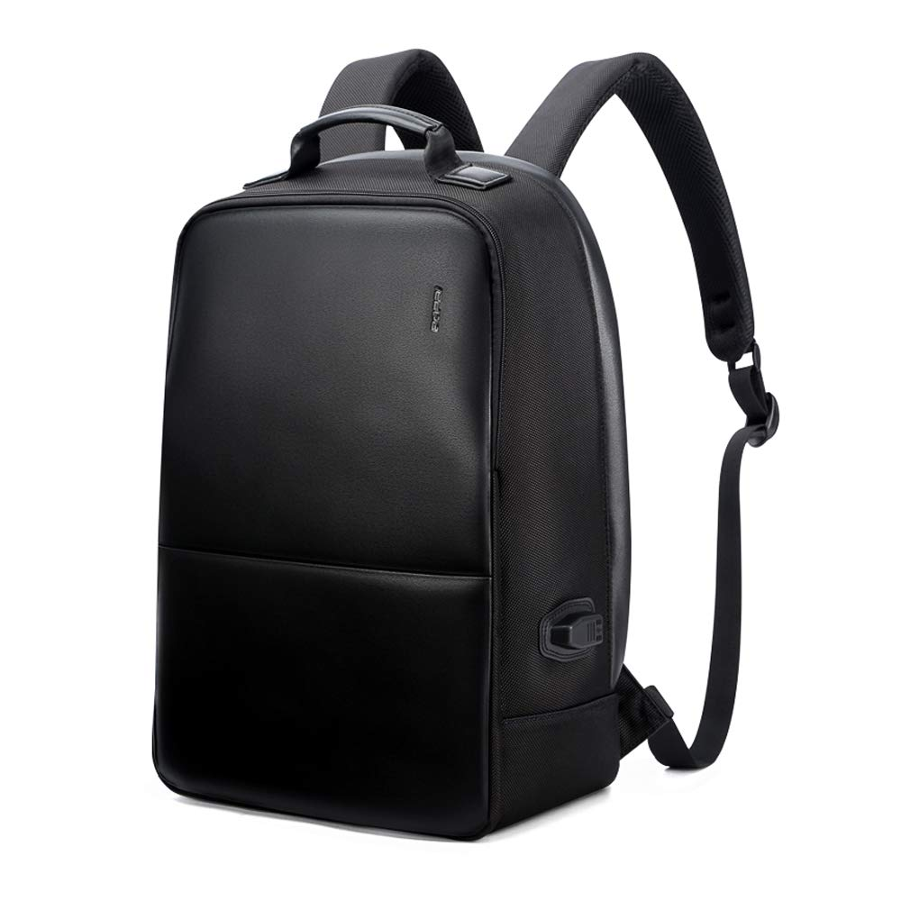 Bopai Anti-Theft Business Backpack 15.6 Inch Laptop Water-Resistant with USB Port Charging Travel Backpack Anti-Glare Functional Rucksack Light-Weight Backpack for Men (15.6 inch, Black) by BOPAI
