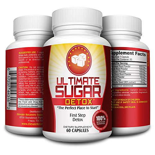 Ultimate Sugar Detox Supplement / Sugar Cleanse Detox with Goldenseal Root, Burdock Root, Red Clover, Beet Powder, Bentonite Clay, Milk Thistle - Sugar Cravings Suppressants - Sugar Blocker