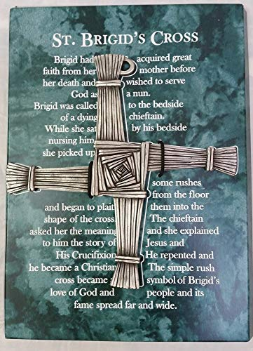 Inspire Nation St Brigids Wall Cross 5 inch Fine Pewter with Story of Meaning and Gift Box