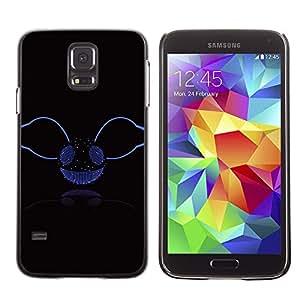Qstar Arte & diseño plástico duro Fundas Cover Cubre Hard Case Cover para SAMSUNG Galaxy S5 V / i9600 / SM-G900F / SM-G900M / SM-G900A / SM-G900T / SM-G900W8 ( Music Disco Ball Glitter Bling Party Smiley)