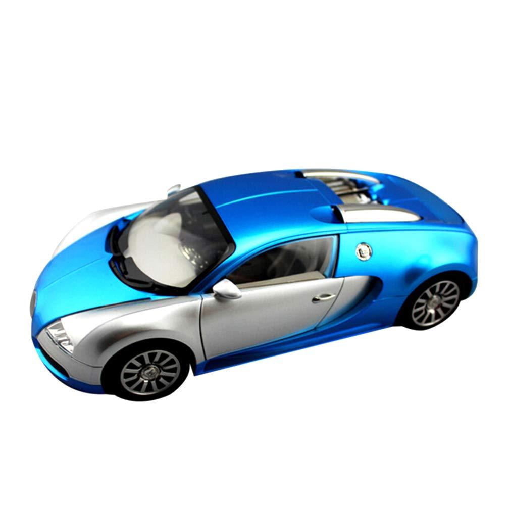 カーモデル Bluetoothスピーカー ワイヤレスカード アウトドアポータブルラジオオーディオ サブウーファーBluetoothスピーカー USBインターフェース1スピーカー プラスチックケース(ブルー ゴールド レッド ホワイト) ブルー B07JL9DJYQ ブルー
