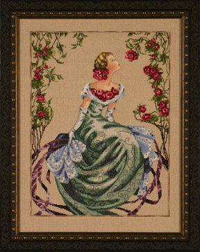 32ct Natural Linen (Lady of the Mist - Cross Stitch Pattern)