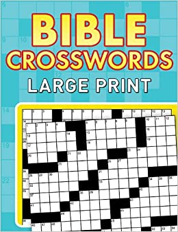graphic about Bible Crossword Puzzles Printable With Answers named Bible Crosswords Enormous Print Paperback: .british isles