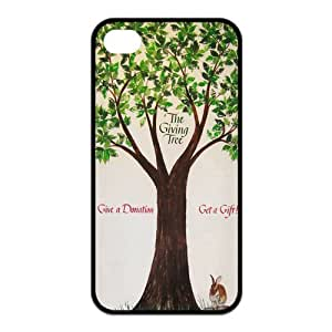 Giving Tree Pattern Design Solid Rubber Customized Cover Case for iPhone 4 4s 4s-linda128