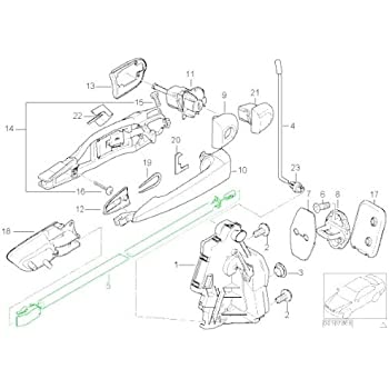 Amazon Com Bmw E46 Coupe Door Cable Inside Handle Front Lr Oem