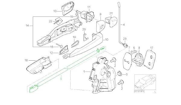 Amazon Com Bmw E46 Coupe Door Cable Inside Handle Front Lr Oem