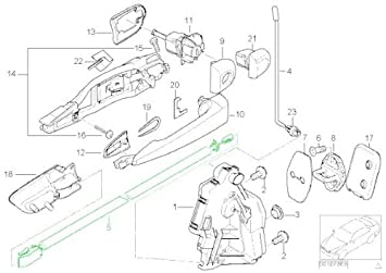 51d 2CntSFL._SX355_ amazon com bmw e46 coupe door cable inside handle front l r oem E46 BMW 330Ci Engine Diagram at gsmx.co